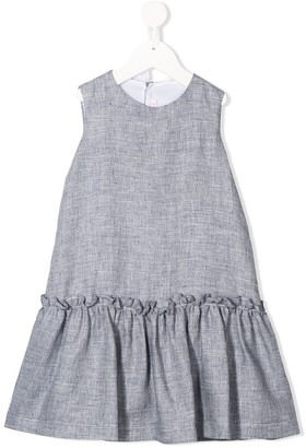 Il Gufo Ruffle Trim Midi Dress