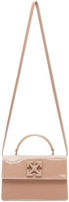Off-White Beige Patent Jitney 1.4 Bag