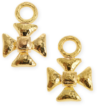 Elizabeth Locke 19k Maltese Cross Earring Pendants