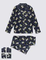 Marks and Spencer Pure Cotton Pyjamas (1-16 Years)