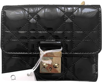 Christian Dior Miss Black Patent leather Wallets