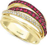 Effy Ruby (3/4 ct. t.w.) and Diamond (1/5 ct. t.w.) Ring in 14k Gold