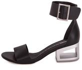 Bronx Black Leather Sandal