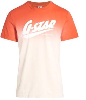 G Star Dip Dye Logo T-Shirt