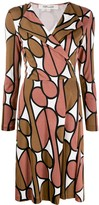 Diane von Furstenberg long-sleeved printed dress