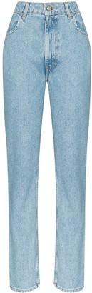 Eckhaus Latta Faded High Rise Jeans