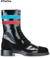 Raf Simons contrast stripe boots - men - Leather - 41