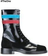 Raf Simons contrast stripe boots