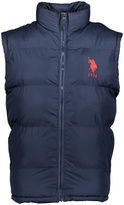 U.S. Polo Assn. Navy & Orange 'USPA' Polo Large Puffer Vest