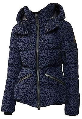 Mackage Women's Madalyn Leopard-Print Down Puffer Coat