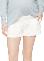 A Pea in the Pod Under Belly Linen Maternity Shorts