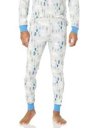Moon and Back by Hanna Andersson Unisex-Adult's Standard Organic Holiday Family Match Long John Pajama Bottom