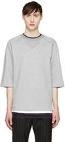 Juun.J Grey Short Sleeve Pullover