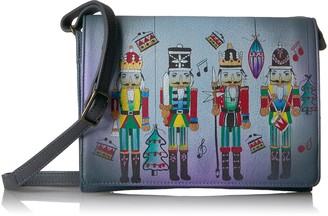 Anuschka Anna By Handpainted Leather Women's Multi Compartment Flap Cross Body Cross Body