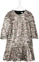 Kenzo tiger stripe dress - kids - Polyamide/Polyester/Viscose/metal - 14 yrs