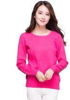 Panreddy Women's 100% Cashmere Slim Fit Crewneck Sweater S