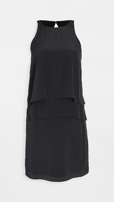 Tibi Solid Silk Layered Dress