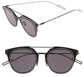 Christian Dior Men's 'Composit 1.0S' 62Mm Metal Shield Sunglasses - Dark Grey Black/ Grey