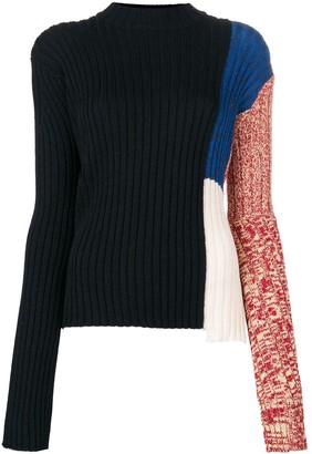 Calvin Klein Colour Block Ribbed Sweater