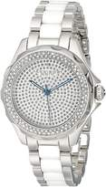 Akribos XXIV Women's AK534SS Swiss Quartz Diamond Ceramic Link Bracelet Watch