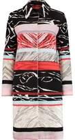 Missoni Striped Crochet-Knit Wool-Blend Coat