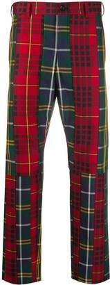 Comme des Garçons Homme Plus Tartan Straight-Leg Trousers
