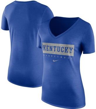 Nike Women's Royal Kentucky Wildcats Basketball V-Neck Practice T-Shirt