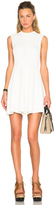 Victoria Beckham Cotton Rib Corset Mini Dress