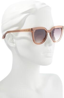 Quay Noosa 55mm Polarized Cat Eye Sunglasses