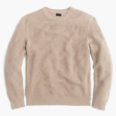 J.Crew Cotton textured-stitch crewneck sweater