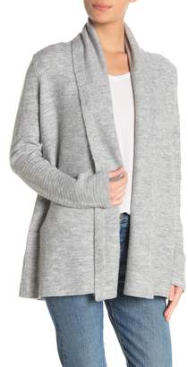 Lucky Brand Shawl Collar Open Front Cardigan