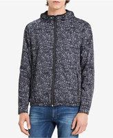 Calvin Klein Jeans Men's Gravel Nylon Hooded Zip-Front Jacket