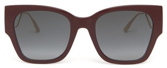 Christian Dior 30montaigne1 Rectangular Acetate Sunglasses - Burgundy