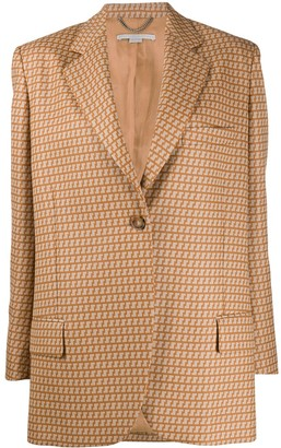 Stella McCartney Abstract Pattern Single-Breasted Blazer