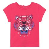 Kenzo Girls T-Shirt `Tiger Kiosque` theme