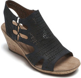 Rockport Cobb Hill Janna Perforated Ankle Strap Sandal (Women's)