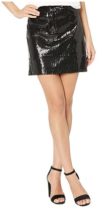 BB Dakota Modern Love Sequin Mini Skirt (Black) Women's Skirt