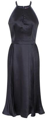 Dorothy Perkins Womens *Chi Chi London Navy Satin Pleated Midi Dress, Navy