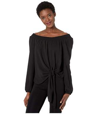 MICHAEL Michael Kors Tie Front Off-Shoulder Top