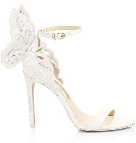 Sophia Webster Chiara Butterfly Broderie Leather Sandals