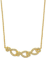 Eliot Danori Gold-Tone Crystal Pavé Frontal Necklace