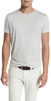 Loro Piana Silk & Cotton Jersey T-Shirt, Silver Gray