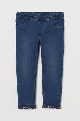 H&M Lined Loose Fit Jeans - Blue