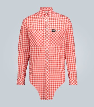 Burberry Check-patterned casual shirt