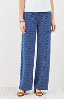 J. Jill Wearever Smooth-Fit Print Full-Leg Pants