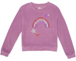 Epic Threads Big Girls Flip Sequin Graphic Velour Sweatshirt