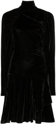 Rotate by Birger Christensen Ruched Velvet Mini Dress