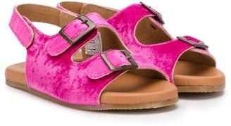 Pépé Kids Double Buckle Flat Sandals