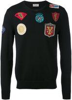 Saint Laurent multi patch sweatshirt - men - Wool - L