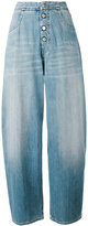 MM6 MAISON MARGIELA wide leg denim pants - women - Cotton/Polyester - 38
